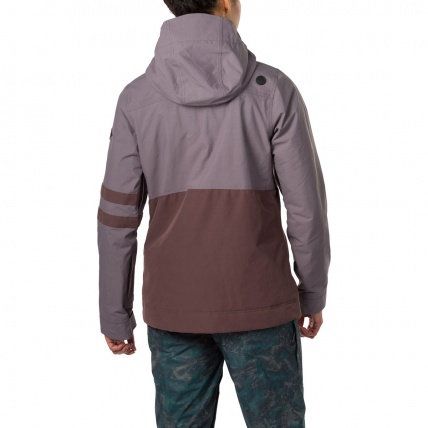 Dakine Juniper Shark Amethyst Womens Snowboard Jacket on model back side