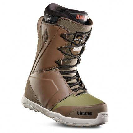 Thirty Two Lashed Bradshaw Brown Green Snowboard Boots front right
