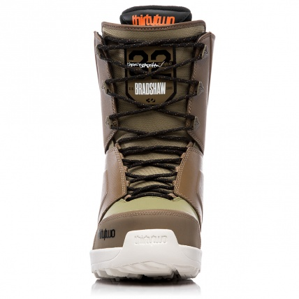 Thirty Two Lashed Bradshaw Brown Green Snowboard Boots front