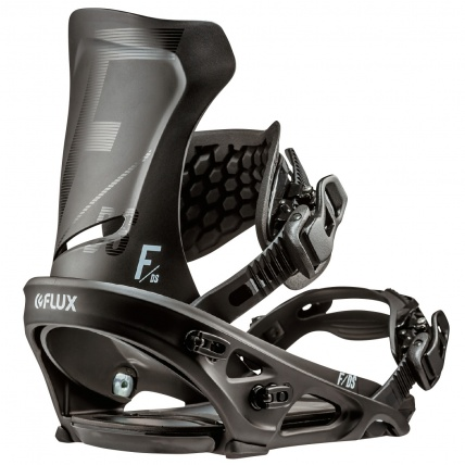 Flux DS Black Mens Snowboard Bindings back right