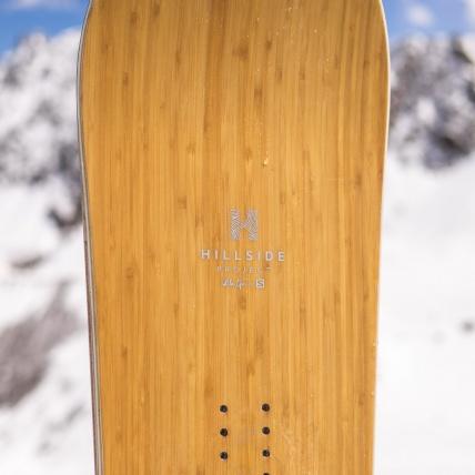 Salomon Sickstick Mens 2019 Snowboard 157cm at Spring Break Snowboard Test top sheet detail