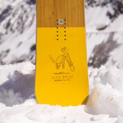 Salomon Sickstick Mens 2019 Snowboard 157cm at Spring Break Snowboard Test tail detail