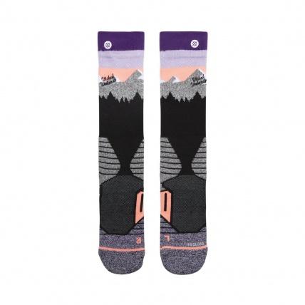 Womans Park White Caps Snowboard Socks Front