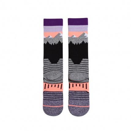 Womans Park White Caps Snowboard Socks Rear