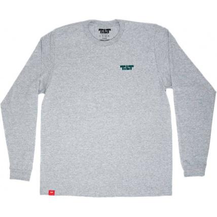 Tilt Block Logo Longsleeve T-Shirt Grey