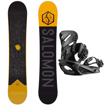 Salomon Mens Sight and Rhythm Snowboard Package