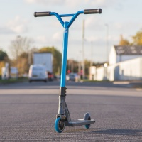 District - Custom DK150i Scooter in Grey and Blue