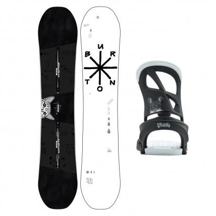 Burton Rewind Womens Freestyle Snowboard Package