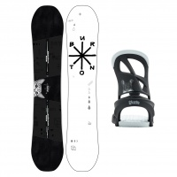 Burton - Rewind Womens Freestyle Snowboard Package