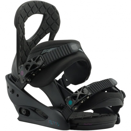 Burton Stiletto ReFlex Matte Black Womens Snow Binding
