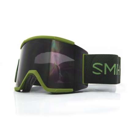 Smith Squad XL Moss Surplus ChromaPop Sun Black Snow Goggles front