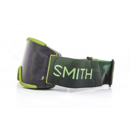 Smith Squad XL Moss Surplus ChromaPop Sun Black Snow Goggles side camo strap