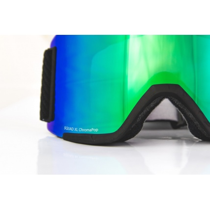 Smith Squad XL Black ChromaPop Sun Green Mirror Lens Snow Goggles