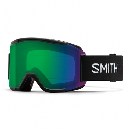Smith Squad Black ChromaPop Everyday Green Snow Goggles