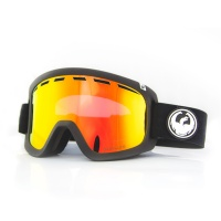 Dragon - D1 OTG Black Lumalens Red Ion Snow Goggles