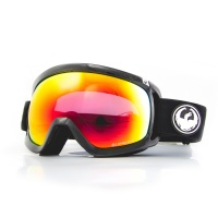 Dragon - D3 OTG Black Lumalens Red Ion Snow Goggles