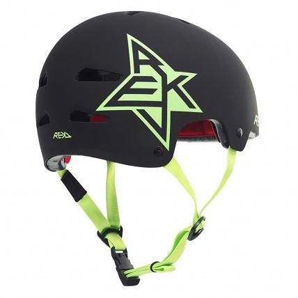 Rekd Protection Elite Icon Helmet in Black and Green