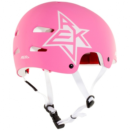 Rekd Protection Elite Icon Helmet in Pink and White Rear