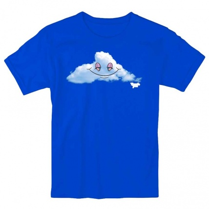 Thank You Head in the Clouds Tee Shirt Blue