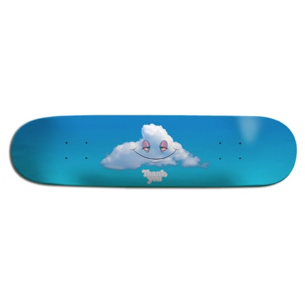 Thank You Head in The Clouds Skateboard Deck 8.0 Horizontal