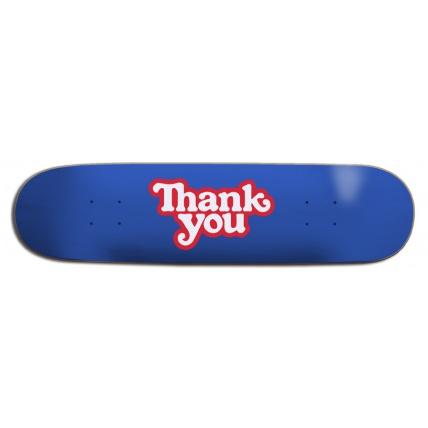Thank You Logo Skateboard Deck 8.25in Sideways