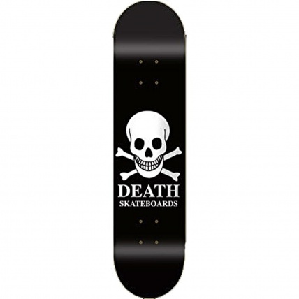 Death Skateboards Logo Skateboard Black