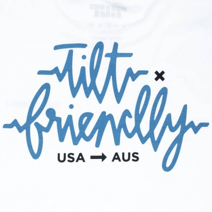 Tilt X Friendly Collab T-Shirt White