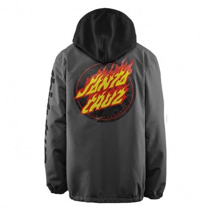 Thirty Two Merchant Charcoal Santa Cruz Mens Snow Jacket back logo
