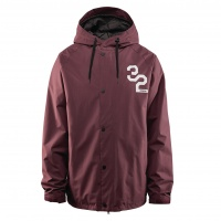 Thirty Two - Grasser Burgundy Mens Snowboard Jacket