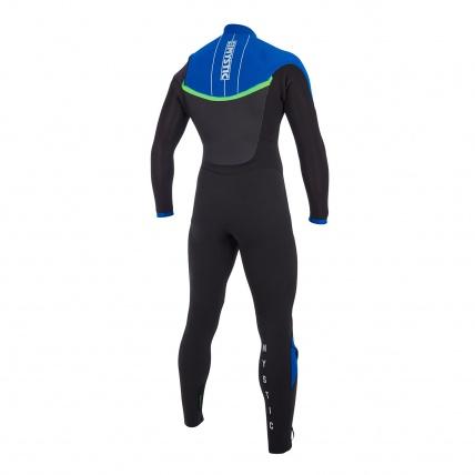 Mystic Drip 5/4mm Blue Full Suit Front Zip Wetsuit Back