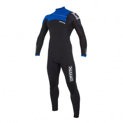 Mystic Drip 5/4mm Blue Full Suit Front Zip Wetsuit