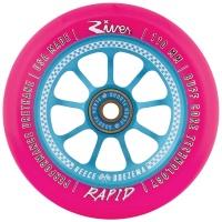 River Wheel Co - Checkmate Rapid Reece Doezema Blue Pink Wheel 110mm