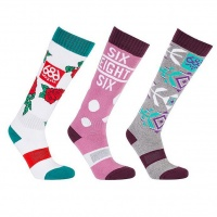 686 - Heater Womens Snowboard Socks (3 Pack)