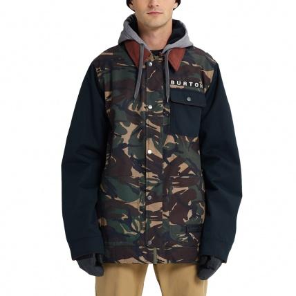 Burton Dunmore Seersucker Camo True Black Mens Snowboard Jacket