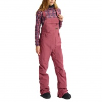 Burton - Avalon Bib Rose Brown Womens Snowboard Pants