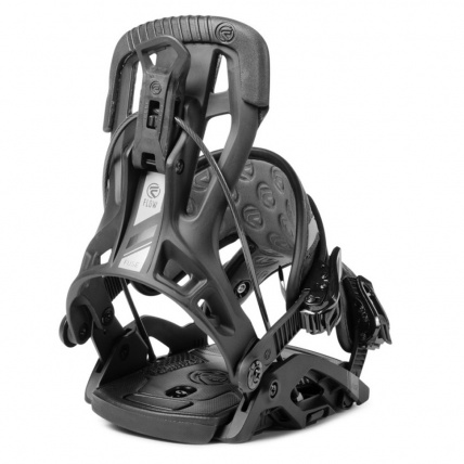 Fuse Fusion Black Step In Mens Snowboard Bindings Back Profile