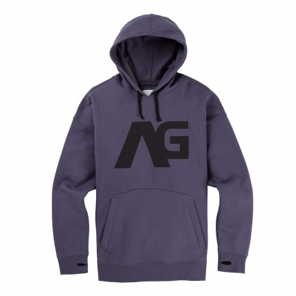 Mens Analog Crux Pullover Hoodie Greystone front print