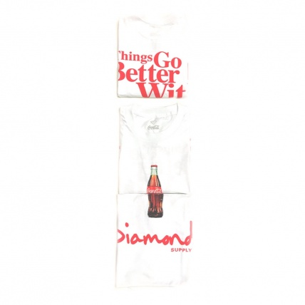 DIamond  X Coca Cola White OG T-Shirt