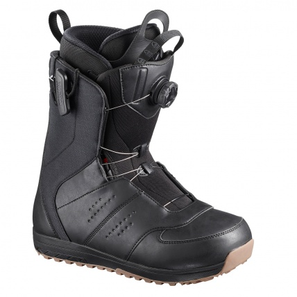 Salomon Launch BOA SJ Black Gum Mens Snowboard Boots