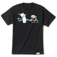 Diamond - X Family Guy OG Script Tee in Black