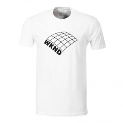 WKND Skateboards On A Plain T-Shirt White