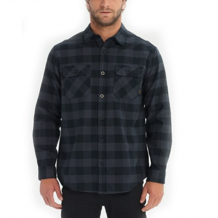 Burton Brighton Flannel Shirt Black Heather Buffalo