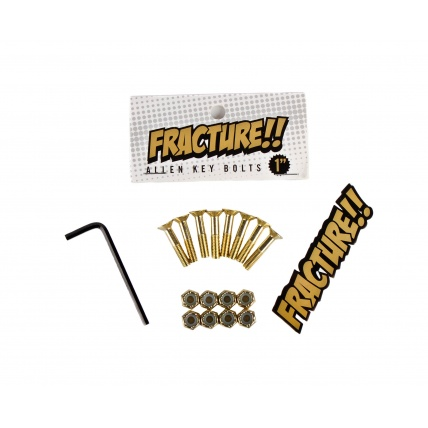 Fracture 1.0in Skateboard Hardware Gold Allen