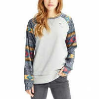 Burton - Oak Womens Crew Monument Heather Tahoe Freya