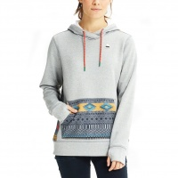 Burton - Oak Womens Hoodie Monument Heather Tahoe Freya