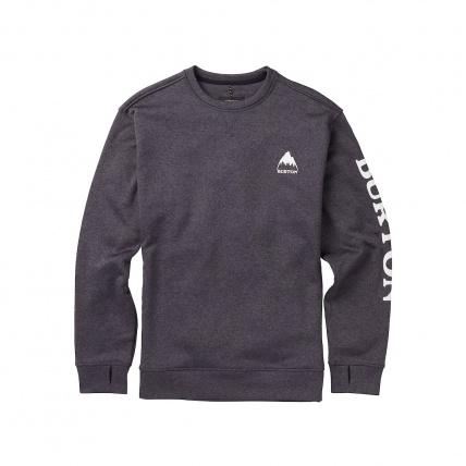 Burton Oak Mens Crew Sweatshirt True Black Heather