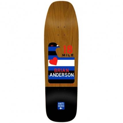 Anti Hero Skateboard Deck Scenic Drive BA  Natural/Black 9.25