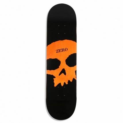 Zero Single Skull Knockout Deck Blk Org 8.0
