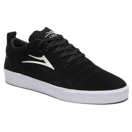 Lakai Bristol Black and White Skateshoe