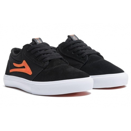 Lakai Griffin Kids Skate Trainer Black and Orange